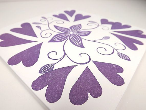 Lino Print Card by ContoursAlbion