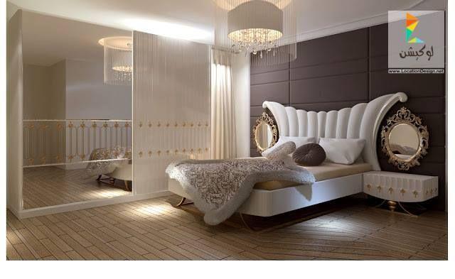 أحدث كتالوج غرف نوم عرسان كلاسيك و مودرن بأكثر من 100 تصميم جديد لوكشين ديزين نت White Bedroom Set Furniture Bedroom Bed Design Modern Bedroom Furniture