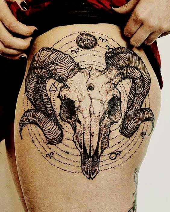 50 Best Aries Tattoos Designs And Ideas With Meanings – #Aries #Designs #Ideas #…