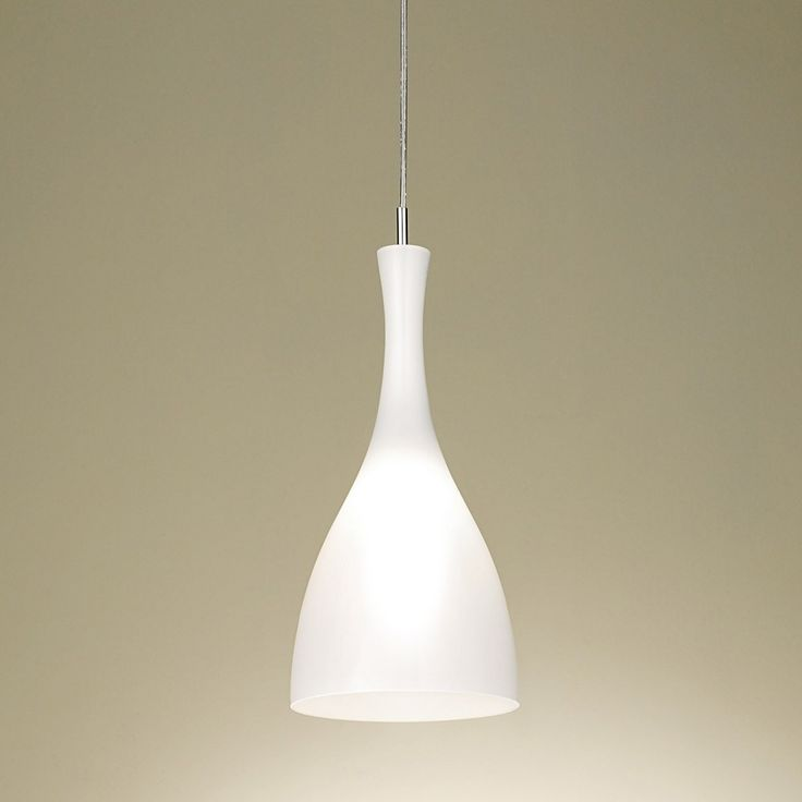 Chelsom Dine 20 Pendant Lamp White - White opal glass pendant light from Chelsom. Create a welcoming ambience in your interior with the Chelsom Dine 20 Pendant White Lamp. Expertly sculpted from distinctive duplex glass, the light is presented in a refreshing white contemporary finish. Inspired by the Scandinavian style of minimal design, the pendant is curved in a tapered hour glass shape and radiates a soft diffused glow as well an excellent source of down light. The design is finished...