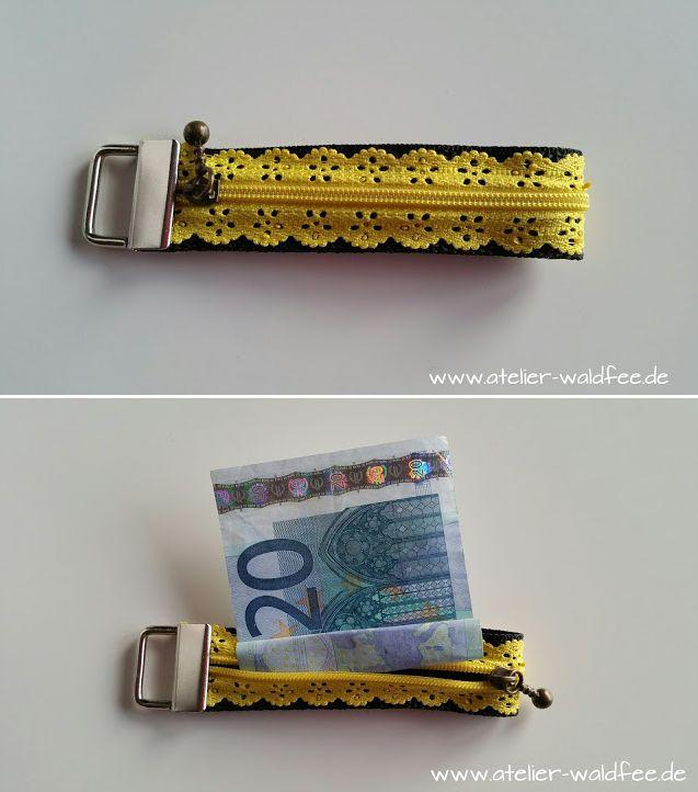 Schlüsselband mit praktischem Versteck (Spitzen-Reißverschluss von Snaply)