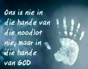 Ons is in die hande van God