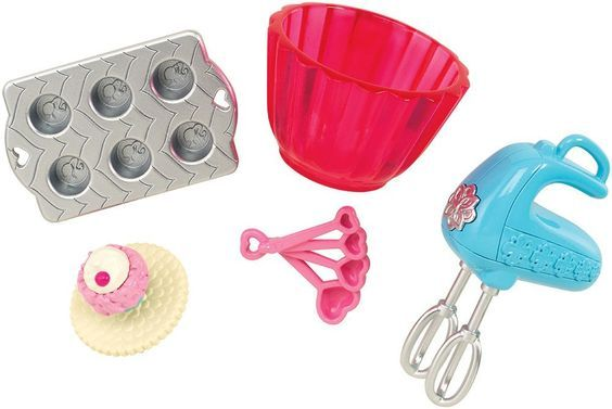 Amazon.com: Barbie Cupcake Baking Set Doll House Accessory Pack: Toys & Games