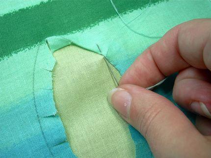 Reverse applique...proper technique for fabrics that will fray.