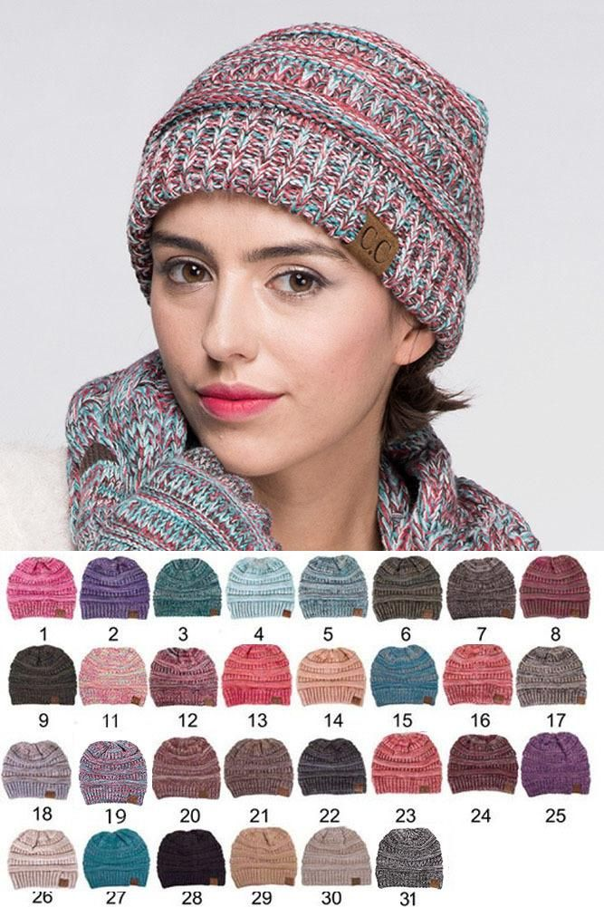 C.C Trendy Warm Chunky Soft Marled Cable Knit Slouchy Beanie  11.99 - CC  Four Tone Thread 32e8a4f1725f