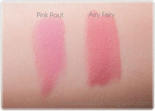 Revlon Matte Lipstick - Pink Pout (vs Rimmel Airy Fairy)