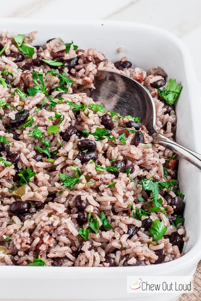 Cuban Rice and Beans is a delicious Latin side dish that goes well with almost any meal. This recipe is easy, deliciously flavorful, and can be made ahead!
