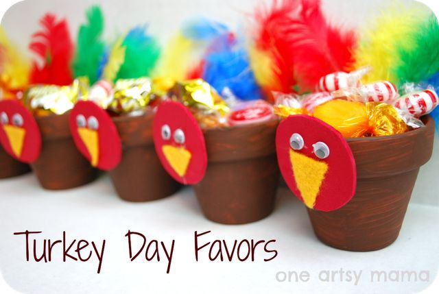 Thanksgiving crafts and favor for kids
