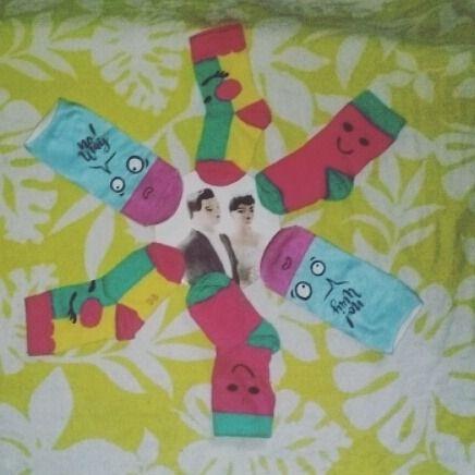 mijn sokken hebben een feestje !