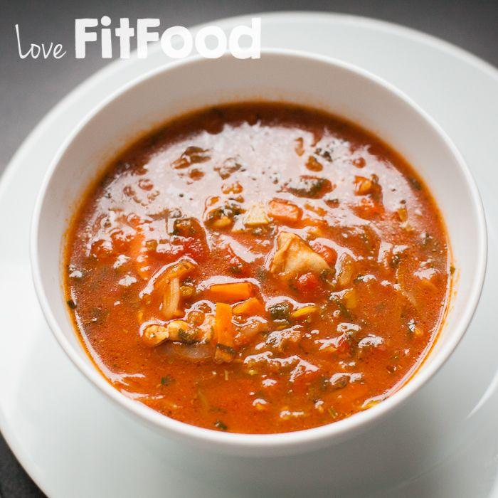 lovefitfood recept - Gevulde makkelijke tomatensoep