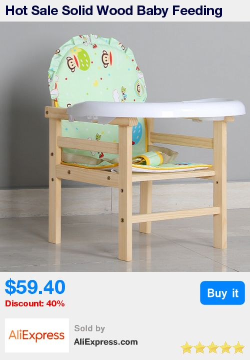 Hot Sale Solid Wood Baby Feeding Chair for Children Kids,Portable Baby Eat Dining Chair Plastic Table,Seggiolone Portatile Baby * Pub Date: 04:05 May 30 2017