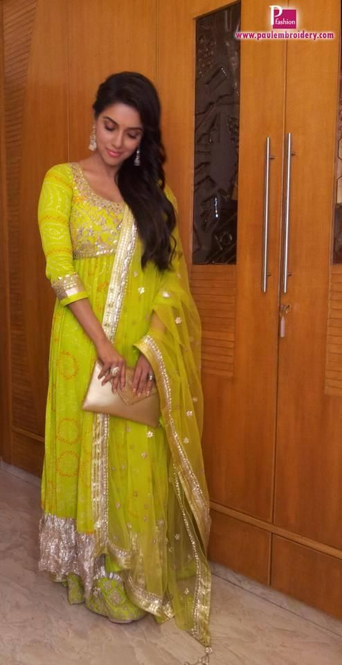 Bollywood Actress Asin in Anita Dongre Outfit | Paul Embroidery