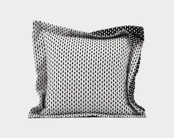 annddd.. we're back on Etsy.com. Check out our store on https://www.etsy.com/shop/LOOMFABRIC   LOOM The Black Diamond Pillow Cover