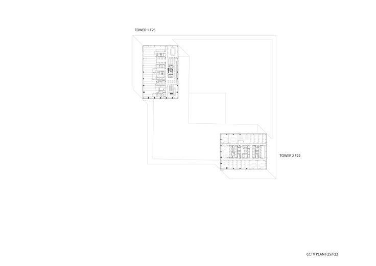 floor 25 plan, CCTV Headquarters, Beijing, OMA