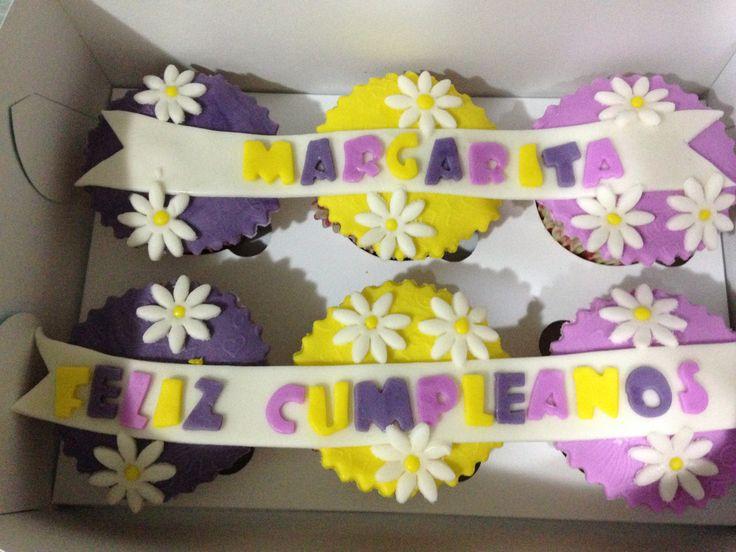 Cupcakes cumpleaños margaritas