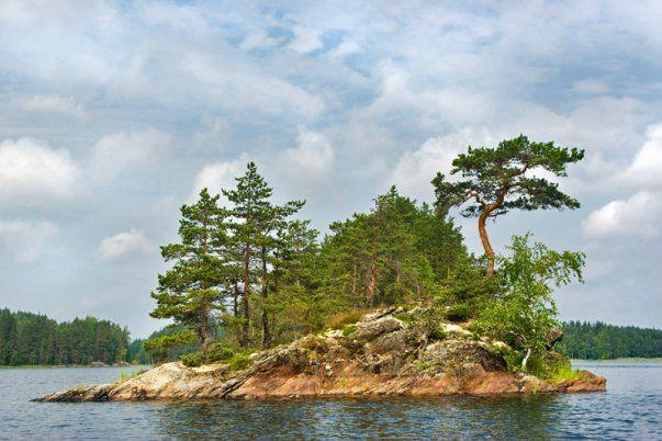 A rocky island on Saimaa Lake-near Olli's