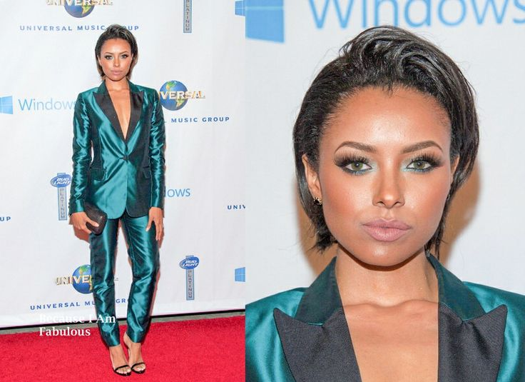 Fabulously Spotted: Kat Graham Wearing Anthony Franco - Universal Music Group 2014 Grammy Awards After Party  - http://www.becauseiamfabulous.com/2014/01/kat-graham-wearing-anthony-franco-universal-music-group-2014-grammy-awards-after-party/