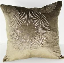 Velvet Pillow - Starburst Lt Brown - 20 x 20 in. [ID 2228737]