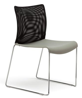 Highmark   Quickstacker Guest Chair   Mesh Back