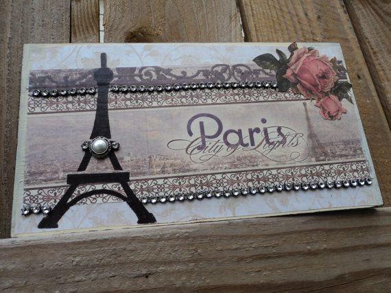 PARIS City Of Lights Eiffel Tower Decor by AlmaSweetHeartDeals, $15.00