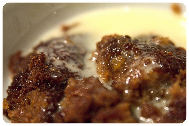 Malva Pudding - 2t baking soda; 1 1/4 c milk; 4 eggs; 1 1/4c sugar; 4 T butter; 4 T apricot jam; pinch salt; 3 1/4 c self raising flour; Dissolve baking soda in milk; mix eggs, butter, sugar and jam. Add dry ingred then milk. Bake at 350 for 30 mins. For sauce: 2 c sugar, 1 1/2 c butter; 2 t vanilla - heat on stove. Add 1 1/4c boiling water and pour over cake as soon as comes out of oven. Serve with hot custard or cream