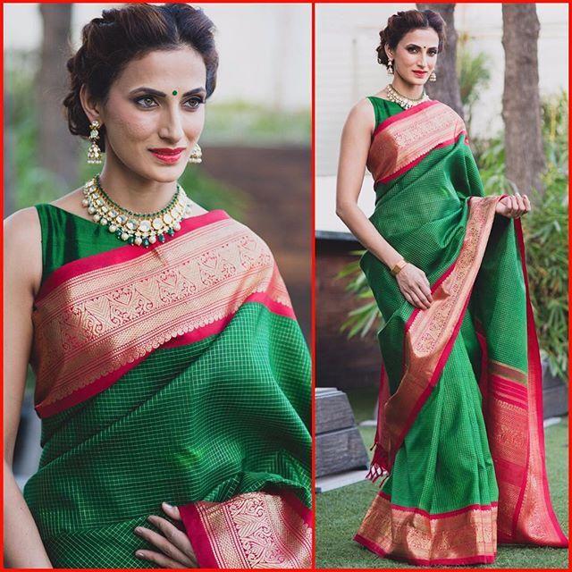 Gudi Sambaralu Day-2 Designer Shilpa Reddy seen in a traditional #southindian…
