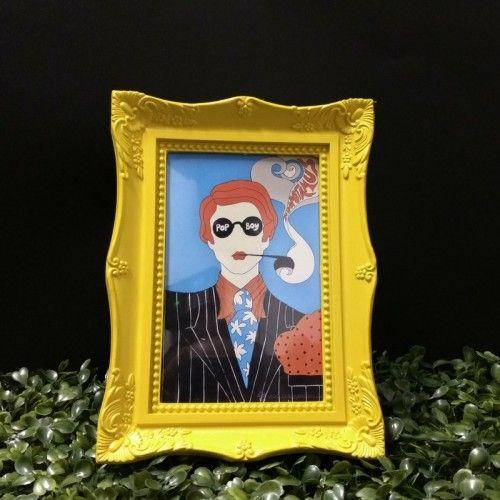 Porta Retrato Retro Amarelo da vida ao seu ambiente #porta #retrato #amarelo #retro