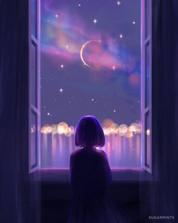 سوالف أوم غمازة خلفيات كيوت Night Sky Wallpaper Anime Scenery Wallpaper Anime Scenery