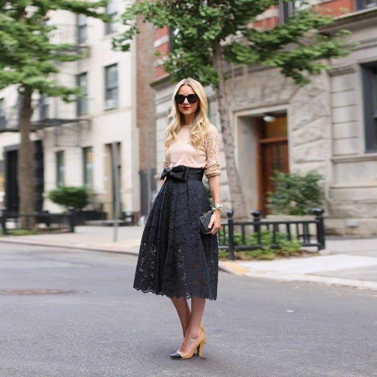 nice Такие разные черные юбки (50 фото) — С чем носить и как сочетать? Читай больше http://avrorra.com/chernye-yubki-foto/