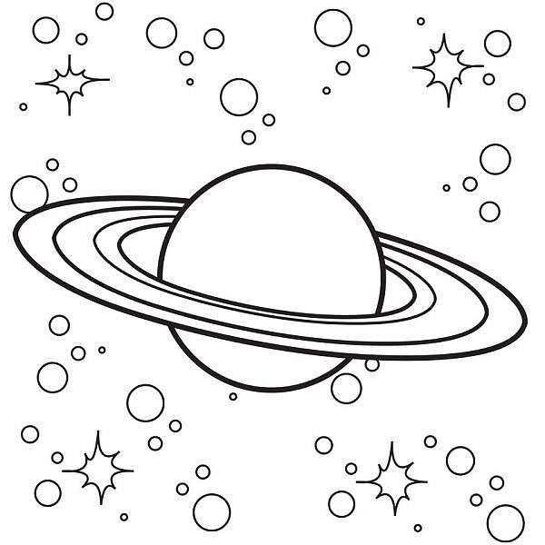 Saturno Da Stampare Pianeti Pagine Da Colorare Per Adulti Arte Doodle