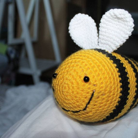 Bee crochet Toy Bee Stuffed Toy Bee Nursery Bumble от PrettyBalls