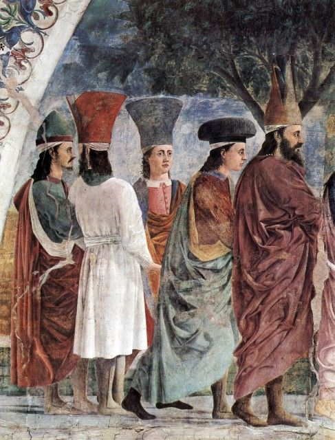 Piero della Francesca - Exaltation of the Cross, Heraclius's followers (detail 1)