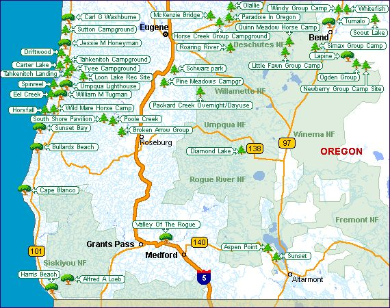 Best Oregon Maps Images On Pinterest Oregon Coast Oregon - Map of oregon rv parks