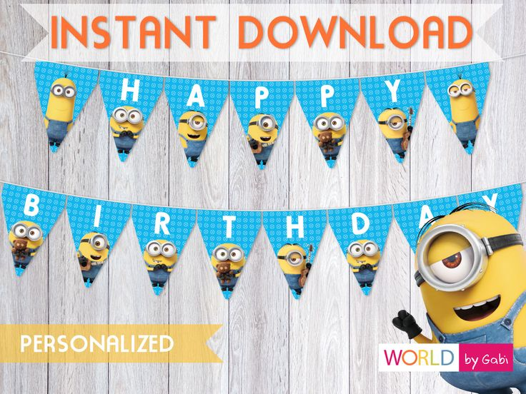 The 25 Best Minion Birthday Banner Ideas On Pinterest Minion