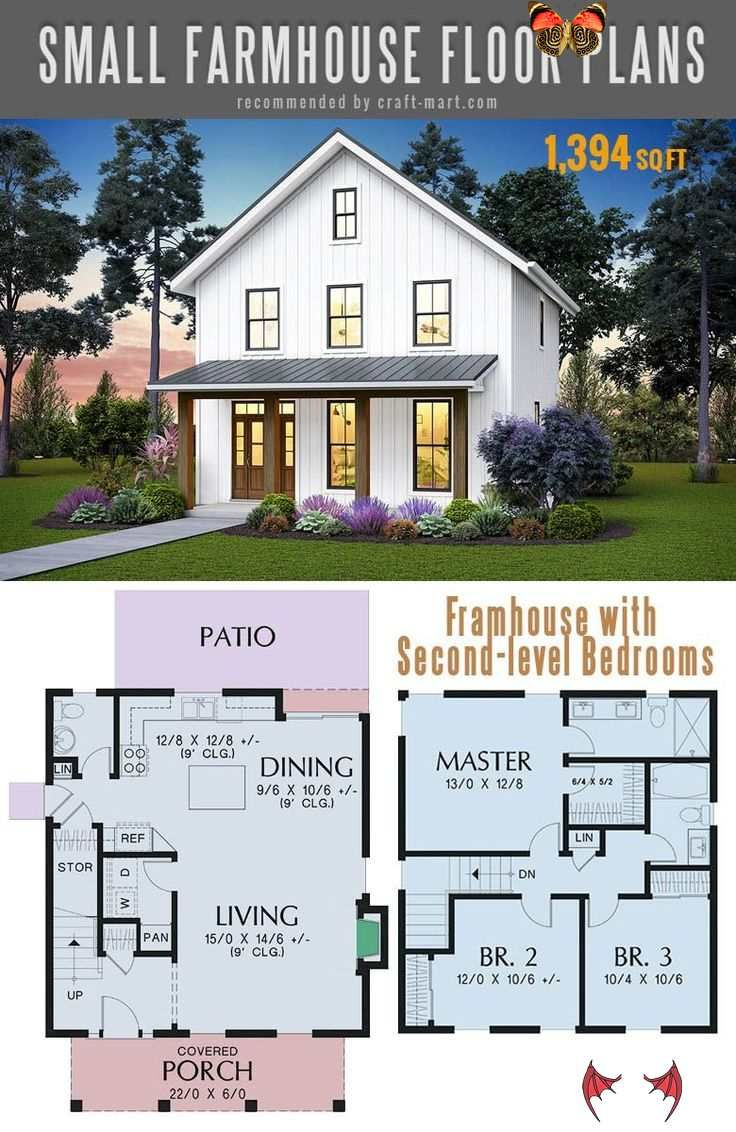 The Best Simple Farmhouse Plans Cozy Two Story Farmhouse With Second Level Bedrooms With Modern Farmhouse Open Floor Plan Br Tiny House Erker Huizen Bouwen