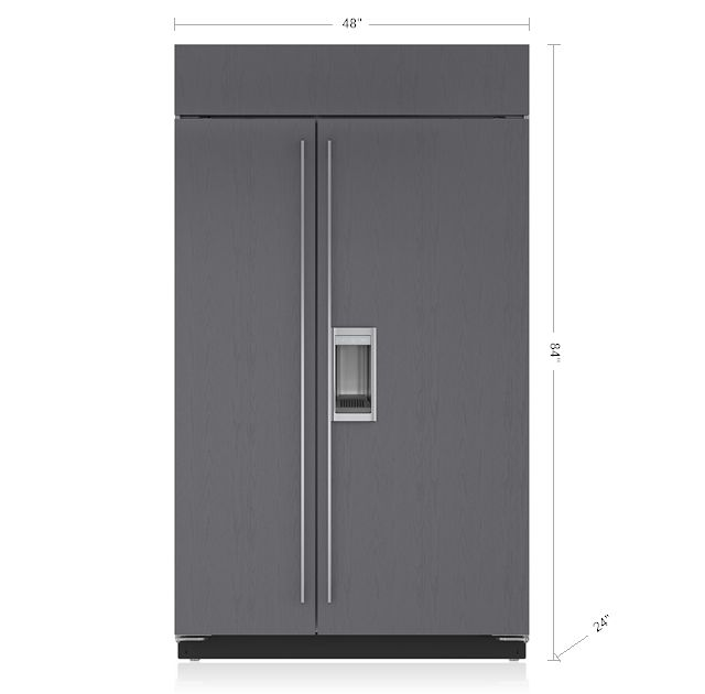 1000 ideas about side by side refrigerator on pinterest. Black Bedroom Furniture Sets. Home Design Ideas