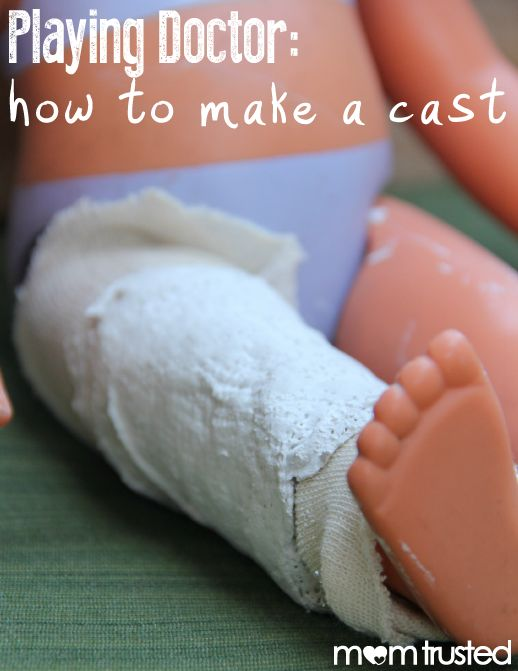 Playing Doctor!  Bring your child's play to the next level and help them make a cast!