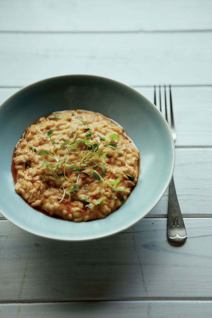 Thai crab risotto with lemon grass and kaffir lime recipe from Home Comforts by James Martin | Cooked