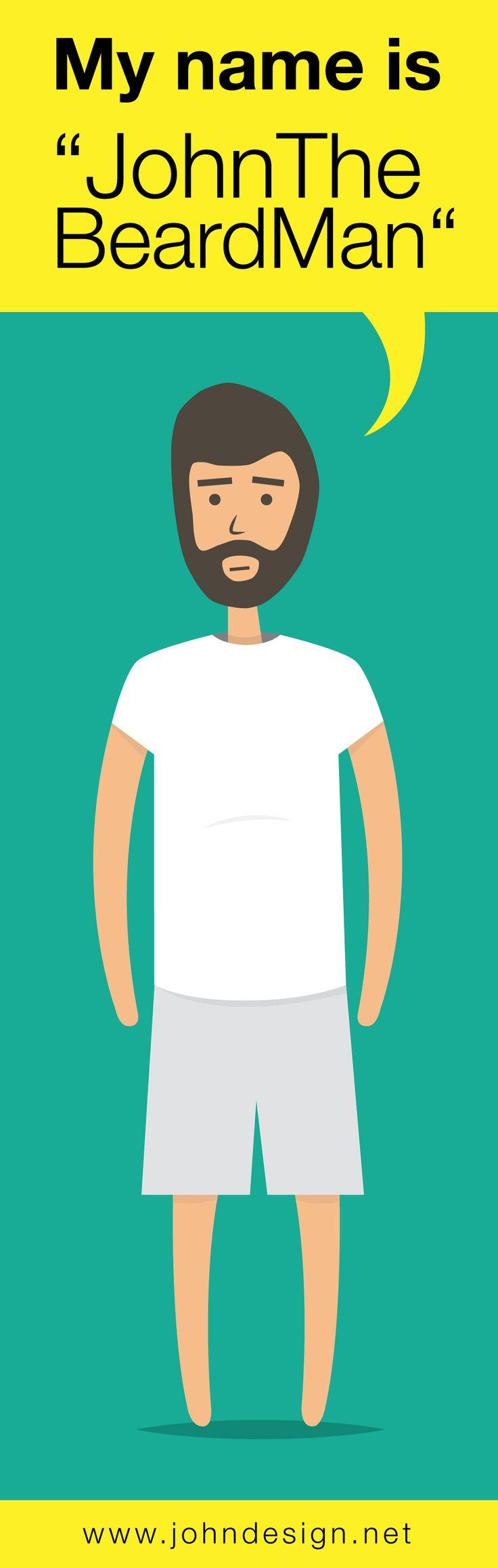 """""""John The Beard Man"""" ! Illustration via Illustrator  Artwork by www.johndesign.net"""