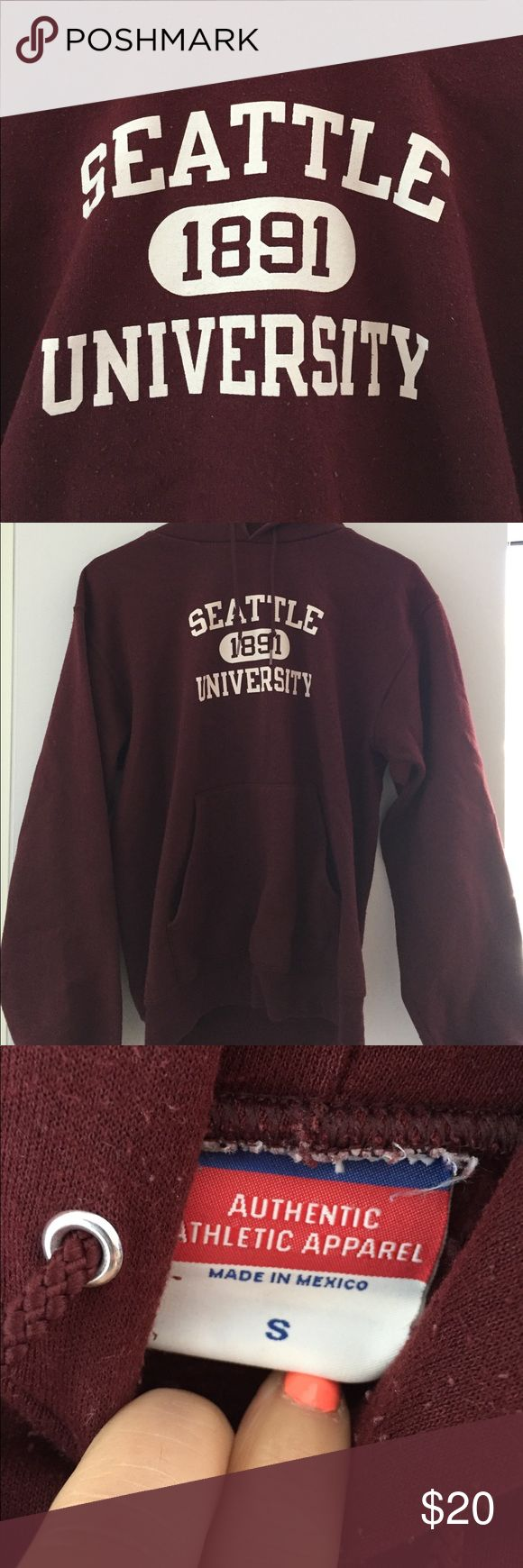 Seattle University maroon sweatshirt This sweatshirt has pilling throughout. It's been sitting in my closet since college, and it's time to say goodbye! It's ready for some new and fun college times! SU Seattle U Champion Tops Sweatshirts & Hoodies