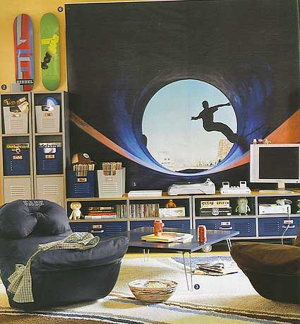 Skater Mural (61 very cool murals for boys room)