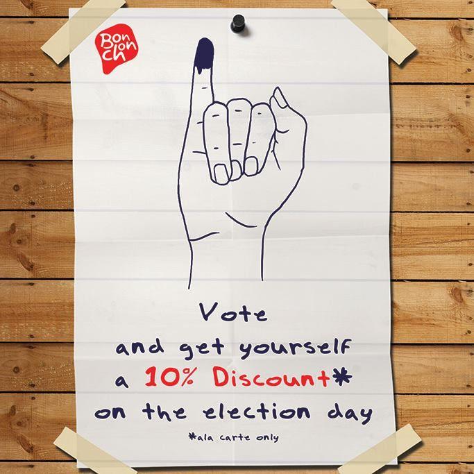 BonChon Chicken: Promo Vote, Discount 10% @bonchon_ind