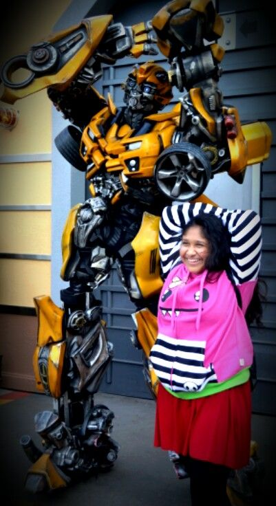 JahruneelRai with transformers bumble bee