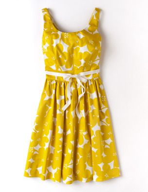 I've spotted this @BodenClothing Marilyn Dress Yellow Mono Floral