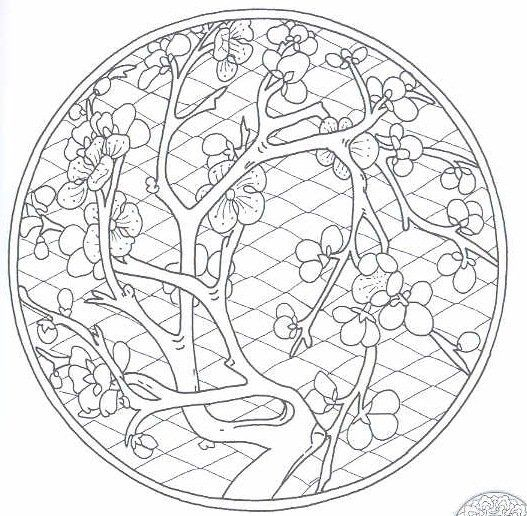 chinese design coloring pages i pinterest chinese blossoms and symbols