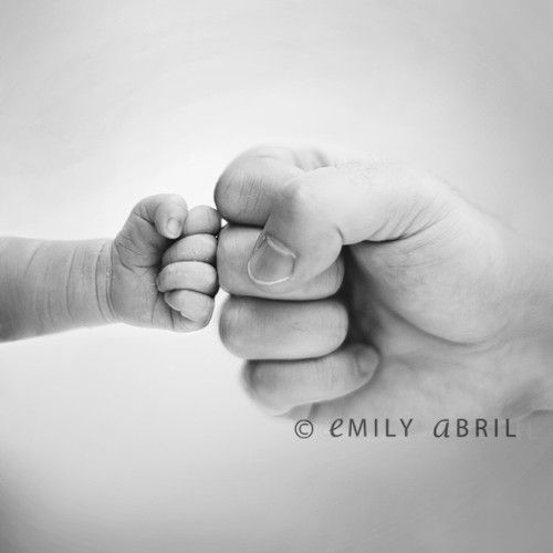newborn dad fist bump - SUCH a cute newborn baby photo with Dad.