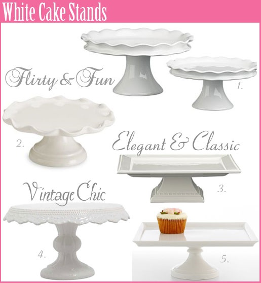 All white Cake stands.