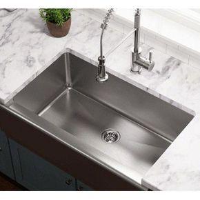 Polaris Sinks 32 75 L X 20 W Single Bowl Stainless Steel Apron