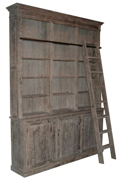 Rustic Bookcase W Ladder In 2018 Bookcases Pinterest And Home