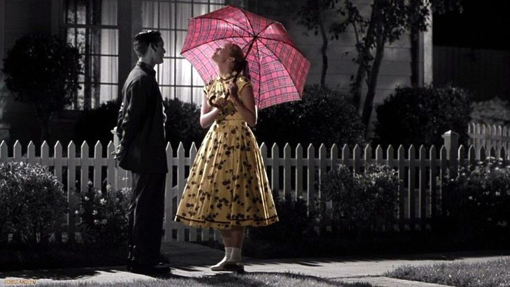 """129 Of The Most Beautiful Shots In Movie History: Pleasantville (1998) -- Going out with """"that colored girl..."""""""